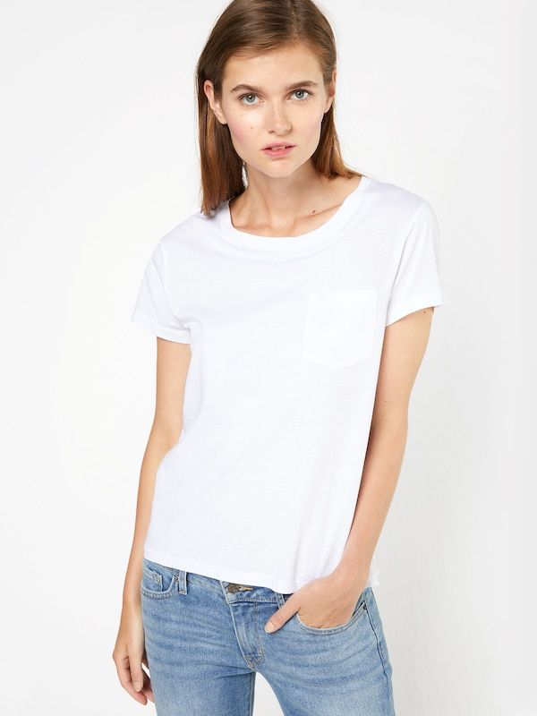 T shirt En Levi's Blanc Tee' Pocket Perfect 'the SUpzVM