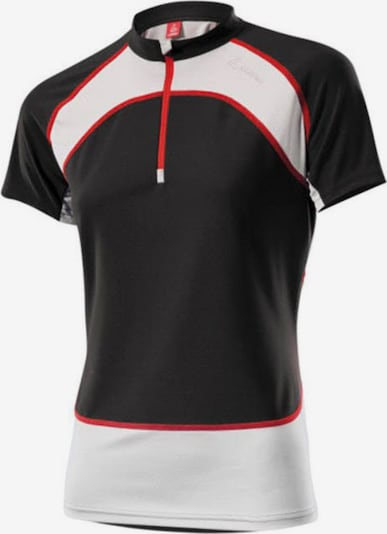 Löffler T-Shirt 'Running Windstopper' in rot / schwarz / weiß, Produktansicht