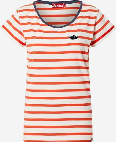 Derbe Tričko 'Small Ship' - krémová / oranžově červená / černá, Produkt