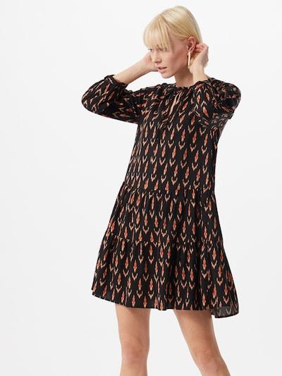 ONLY Kleid 'SPELL' in rostbraun / pastellorange / schwarz, Modelansicht