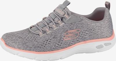 SKECHERS Sneaker in graumeliert / pfirsich: Frontalansicht