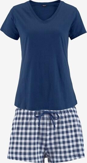 H.I.S Korte pyjama in de kleur Blauw / Wit, Productweergave