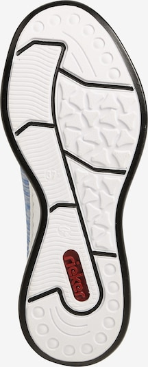 RIEKER Sneaker in rauchblau / weiß: Ansicht von unten
