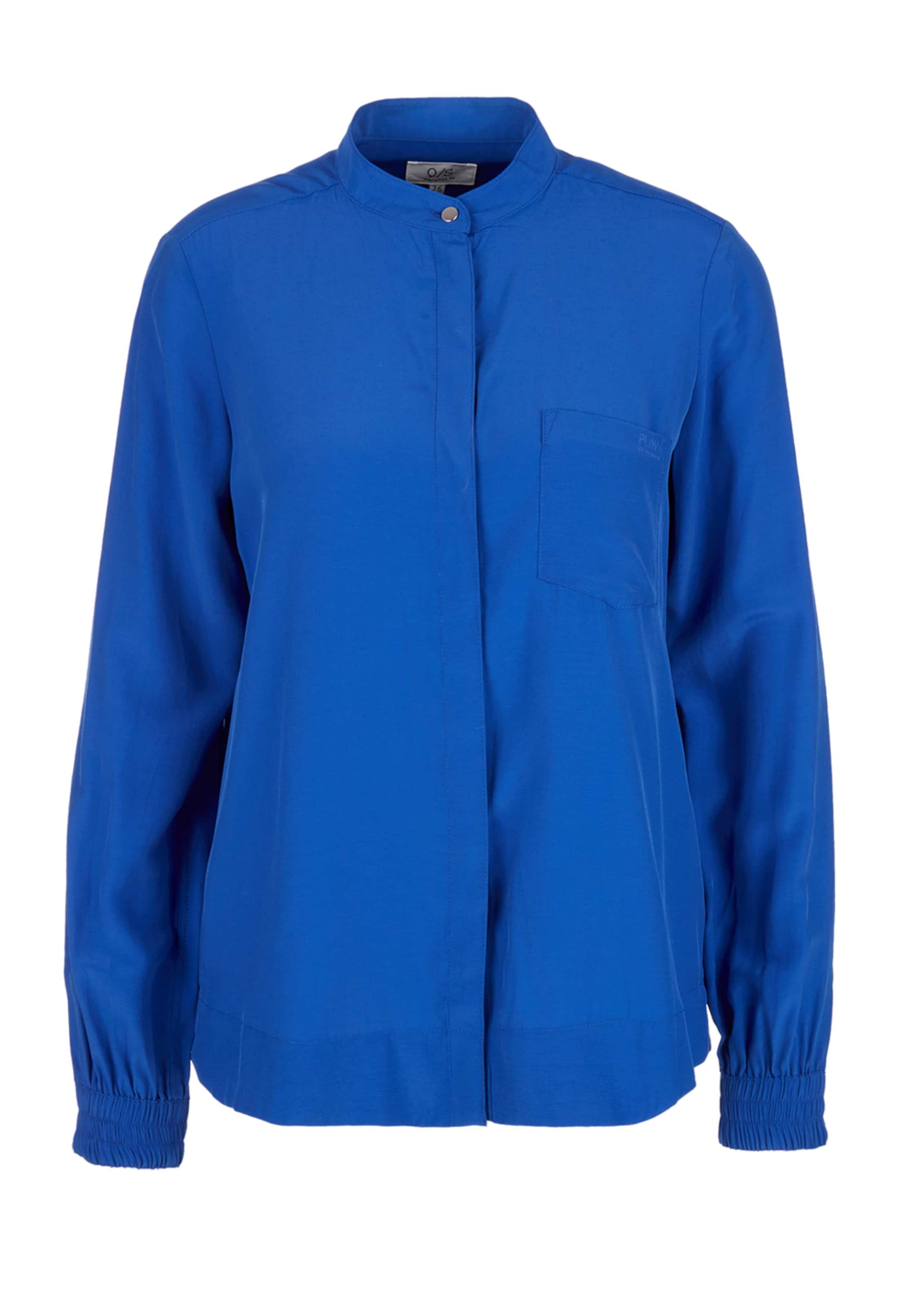 Bluse Royalblau Q By s Designed In JlFc3TK1