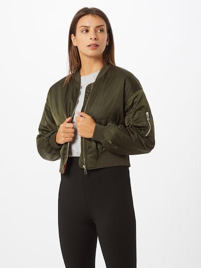 ONLY Veste mi-saison 'Patty' en vert foncé, Vue avec modèle