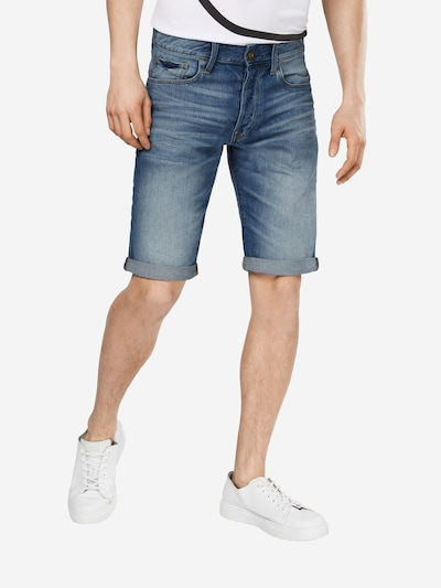 G-Star RAW Jeans '3301 1/2' i blå denim, På modell