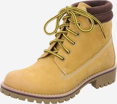 Franz Ferdinand Schnürstiefel in braun / gelb, Produktansicht