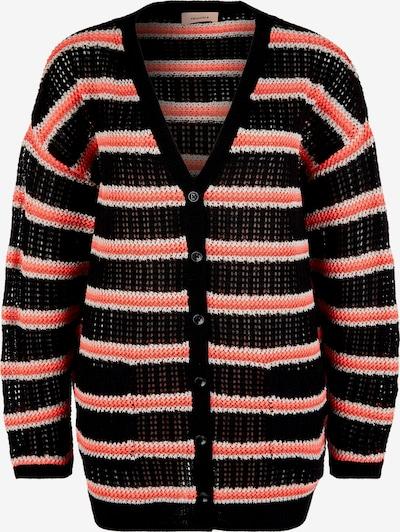TRIANGLE Strickjacke in pink / schwarz / weiß, Produktansicht