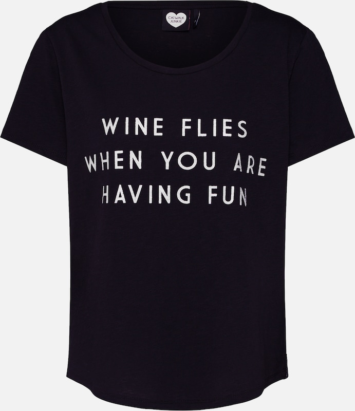 Wine Catwalk 'ts Junkie shirt Noir Flies' En T rxdthsCQ