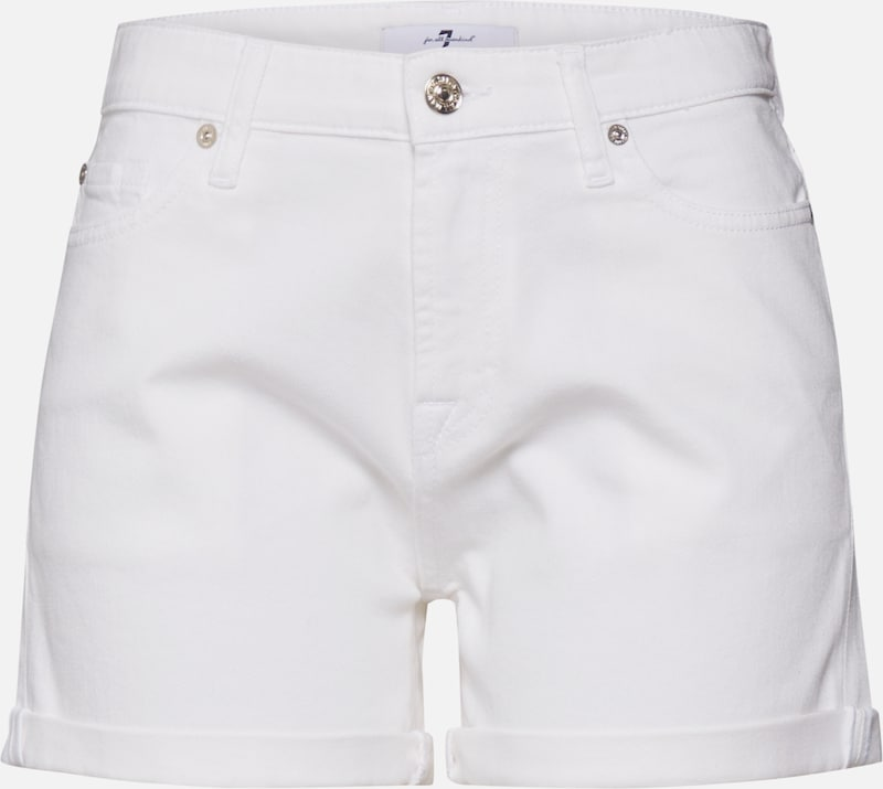 7 for all mankind Shorts 'BOY' in white denim, Produktansicht
