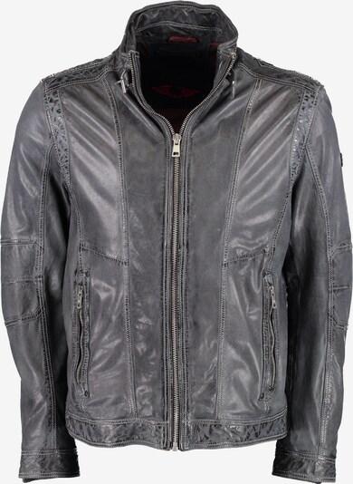 DNR Jackets Lederjacke mit Stehkragen in anthrazit, Produktansicht