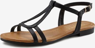 LASCANA Sandale in braun / schwarz, Produktansicht