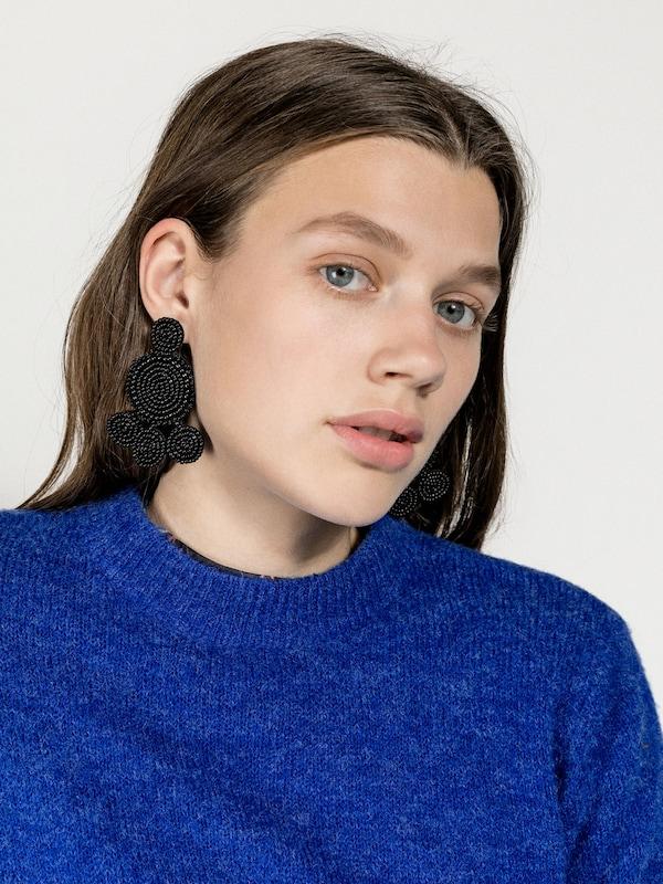PIECES Große Perlen Ohrringe