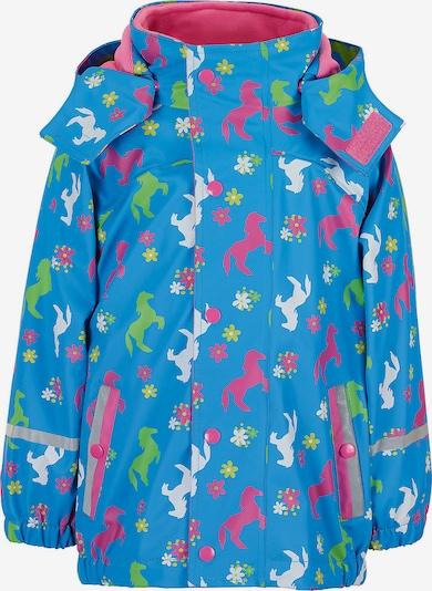 STERNTALER Regenjacke in himmelblau / hellgrün / pink / weiß, Produktansicht