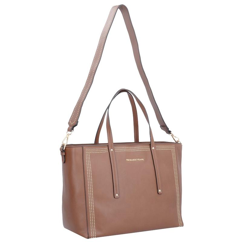 Trussardi Jeans Kuala Lumpur Ecoleather Shopping Bag Schultertasche 37 cm
