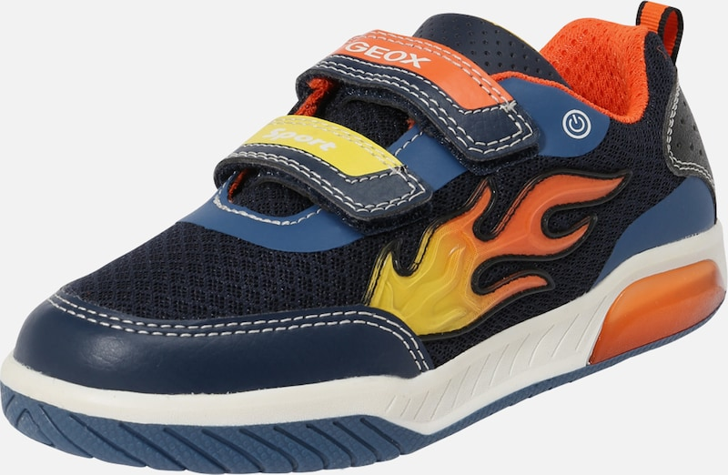 GEOX Kids Sneaker 'Inek' in navy / gelb / orange / weiß, Produktansicht