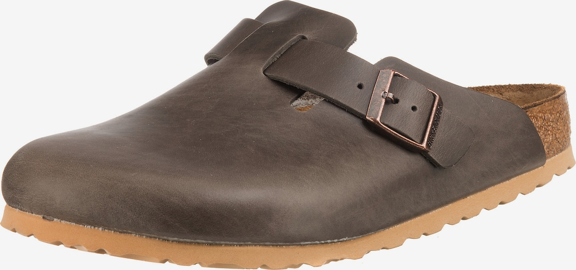 BIRKENSTOCK 'Boston Antique SFB' Clogs in dunkelgrau, Produktansicht