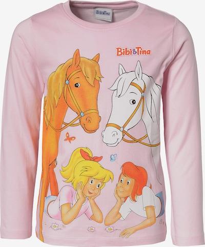 Bibi und Tina Langarmshirt in mischfarben / rosa, Produktansicht