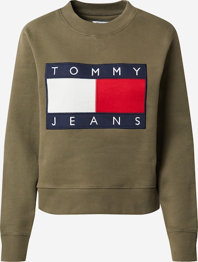 Tommy Jeans Sweatshirt in de kleur Kaki, Productweergave