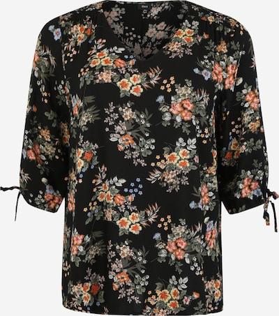 Zizzi Bluzka 'MNOLIA' w kolorze różowy pudrowy / czarnym, Podgląd produktu