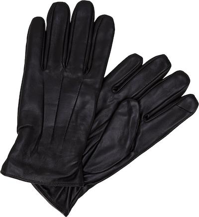 JACK & JONES Handschuhe Leder in schwarz, Produktansicht