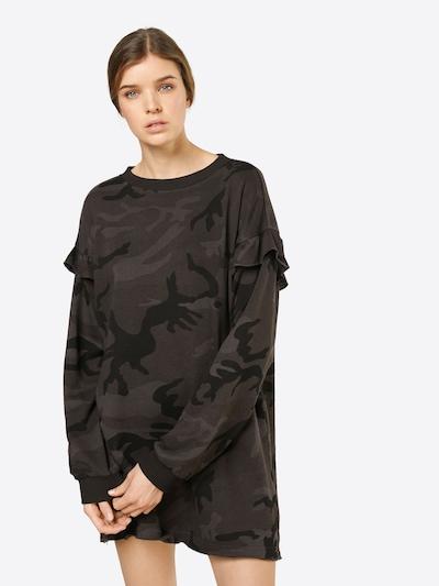Urban Classics Pullover Kleid in khaki / schwarz, Modelansicht