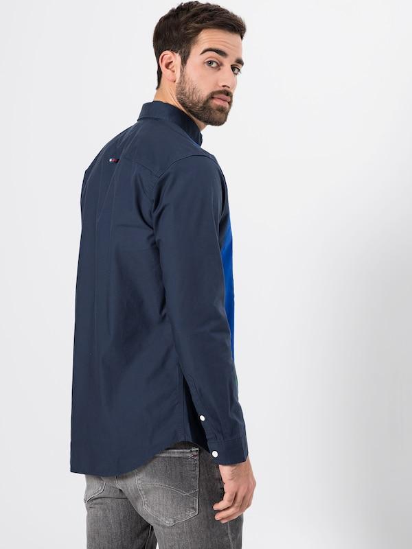 Chemise De Bleu Stripe 'tjm Retro Piece FoncéMélange Couleurs Jeans Tommy En Shirt' uwkiOPlZTX