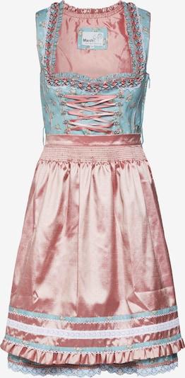 MARJO Dirndl 'Farona' in hellblau / rosa, Produktansicht