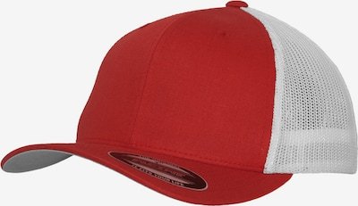 Flexfit Cap in rot / weiß, Produktansicht