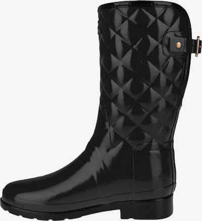 HUNTER Regenlaarzen 'REFINED GLOSS QUILT SHORT' in de kleur Zwart, Productweergave