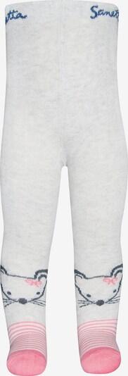 SANETTA Strickstrumpfhosen , Mäuschen in grau / weiß, Produktansicht