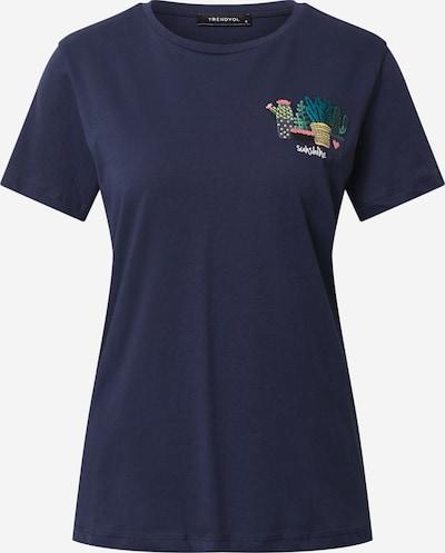 Trendyol T-Shirt in dunkelblau, Produktansicht