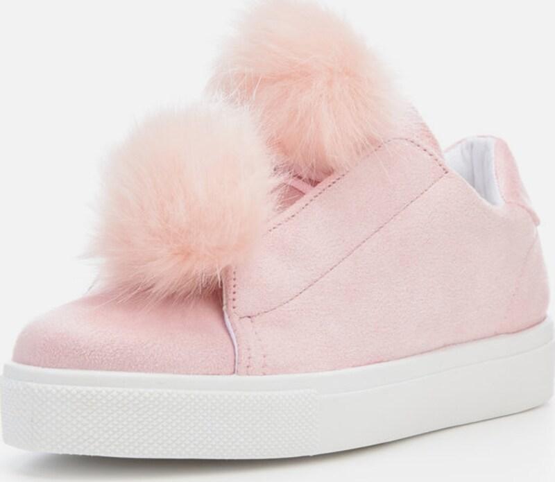 Bianco 'Pompon'-Sneaker