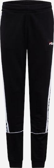 FILA Hose 'TEVIN' in schwarz / weiß, Produktansicht