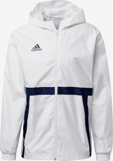ADIDAS PERFORMANCE Veste de sport en bleu foncé / blanc, Vue avec produit