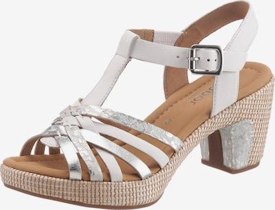 GABOR Sandalette in silber / weiß, Produktansicht