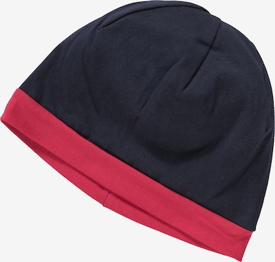 ELKLINE Mütze Haube mit UV-Schutz für Jungen in blau / navy / dunkelblau / rot, Produktansicht