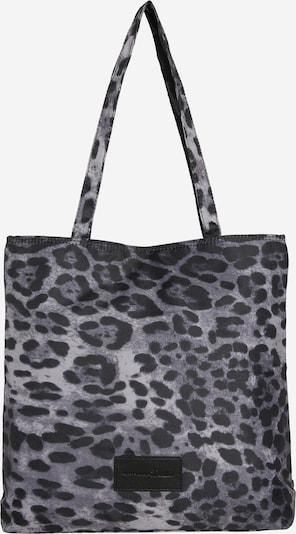 TOM TAILOR DENIM Handtas 'Resi Shopper' in de kleur Grijs / Zwart / Wit, Productweergave