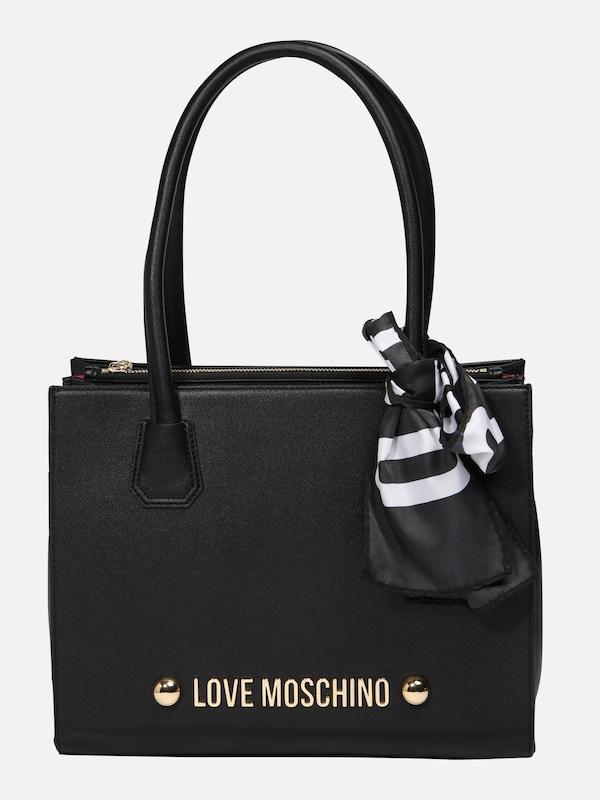 love moschino handtasche in schwarz about you. Black Bedroom Furniture Sets. Home Design Ideas
