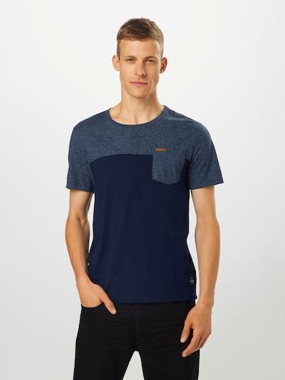 Key Largo Shirt 'TERMINAL' in taubenblau / dunkelblau: Frontalansicht