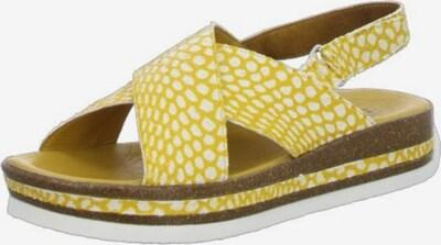 THINK! Sandale in gelb / weiß, Produktansicht