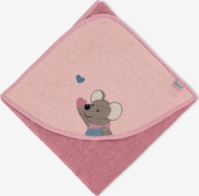 STERNTALER Badetuch 'Mabel' in dunkelblau / taupe / rosa / pitaya, Produktansicht
