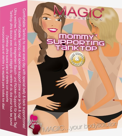 MAGIC Bodyfashion Schwangerschaftstop 'Mommy Supporting Tanktop' in beige, Produktansicht