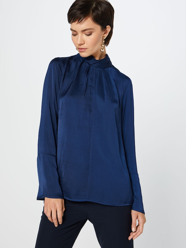 SAINT TROPEZ Bluse 'BLOUSE W GATHERED C' in blau, Modelansicht