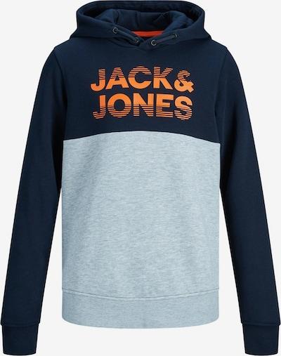 Jack & Jones Junior Sweatshirt in navy / azur / orange: Frontalansicht