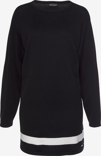 BRUNO BANANI Longpullover in schwarz / weiß, Produktansicht