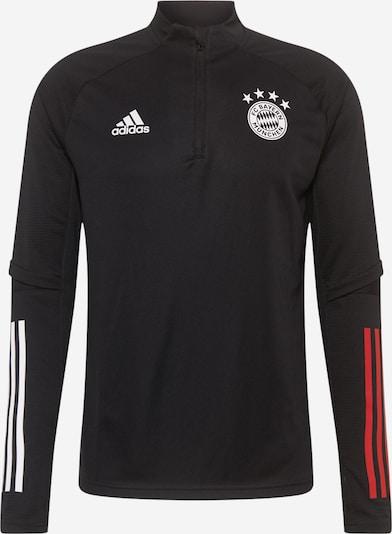 ADIDAS PERFORMANCE Športna majica 'FCB' | črna / bela barva, Prikaz izdelka