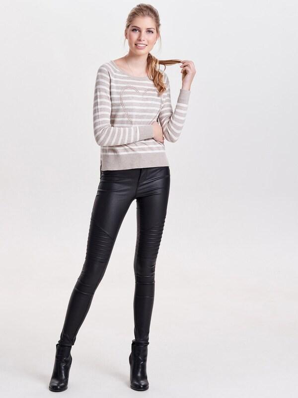 ONLY 'Onlsophie' Pullover mit Streifen und Besatz