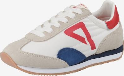 Pepe Jeans Sneaker 'Tahiti Retro' in beige / blau / rot / weiß: Frontalansicht
