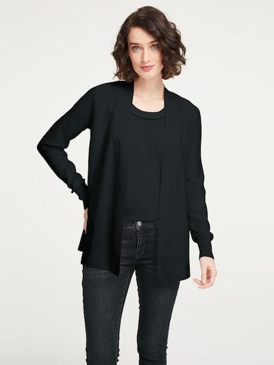 heine Strickjacke in schwarz, Modelansicht